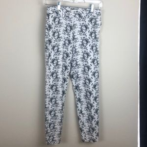 Women's 2 floral cotton blend ankle cropped pants